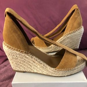 Marc Fisher Brown Suede Leather Espadrilles